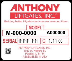 Anthony Liftgates ID Tag